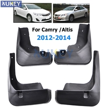 For Toyota Camry XV50 Altis Aurion 2012 2013 2014 Mudflaps Splash Guards Mud Flap Front Rear Mudguards Fender Molded Mud Flaps(China)