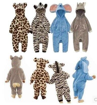 V-TREE Toddler Fleece baby Romper cartoon Animal Sleepsuit newborn baby rompers long sleeve boys girls clothing baby pajamas<br><br>Aliexpress