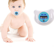 1 pcs Baby Nipple Thermometer Baby Pacifier LCD Digital Mouth Nipple Pacifier Thermometer Kids Body Temperature Infants(China)