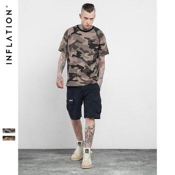 INF Hommes T-shirt D'été 2017 Dernière t chemises Hommes Coton gris Camo Shirt Hip Hop T-shirts Top Hommes de Mode t chemises