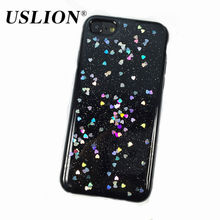 For iPhone 7 6 6s Plus Luxury Glitter Bling Love Heart Star Phone Cases Back Cover Case Coque Fundas For iPhone7 Plus