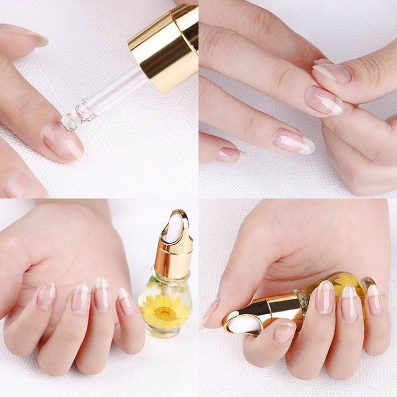 15mL Nutritional Nail Polish Oil UV Gel Dry Dried Flowers Nourishment Oil Nail Cuticle Tools Nail Treatment 1 Bottle 5