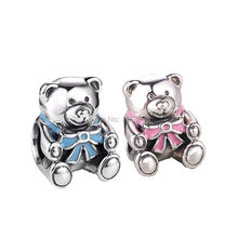 Original Baby Girl/Boy Teddy Bear Charm Fits Europen Pandora Charms Bracelet Authentic 925 Sterling Silver Beads DIY Jewelry