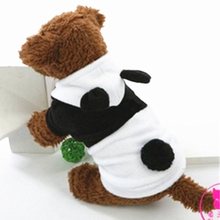 2016 Fashion White Black Winter Fleece Pet Dog Coat XS-XL Cute Panda Design Clothing For Pet Puppy Jackets Costumes Apparel(China)