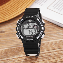 Famous Brand OHSEN Small Children Watch Kids Watches Boys Clock Child Wristwatches Quartz Sports Watches for Kids Surprise Gifts(China)