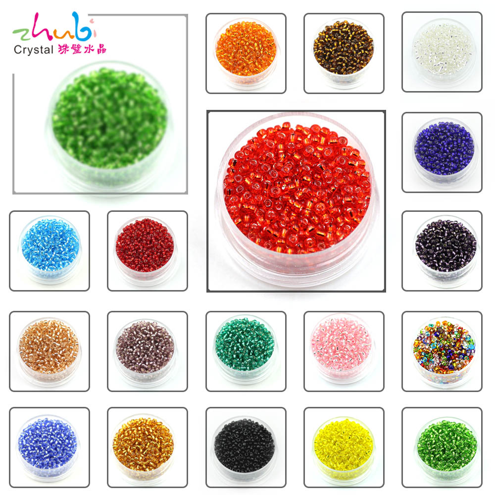 1000pcs New Colorful Czech Glass Round Spacer Loose Beads Jewelry Findings 2mm