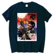 Scarface Tony Montana Al Pacino T-shirt Top Pure Cotton Men T shirt New Design High Quality(China)