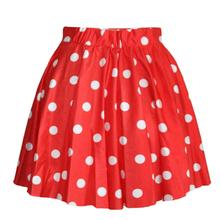 Polka Dot Puff Bust Skirt Stylish Women Pleated Skater Skirt Dots Ball Gown Mini Skirts Saia Colored Short Skirt
