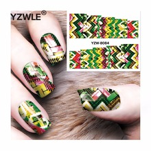 YZWLE 1 Sheet DIY Decals Nails Art Water Transfer Printing Stickers Accessories For Manicure Salon YZW-8084(China)