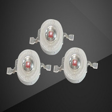 100pcs 3W LED High power  LED bulbs Lamp Red 660nm 700mA 2.2-2.4V 30-40LM  42mil Taiwan EPILEDS Chips ( Free shipping)