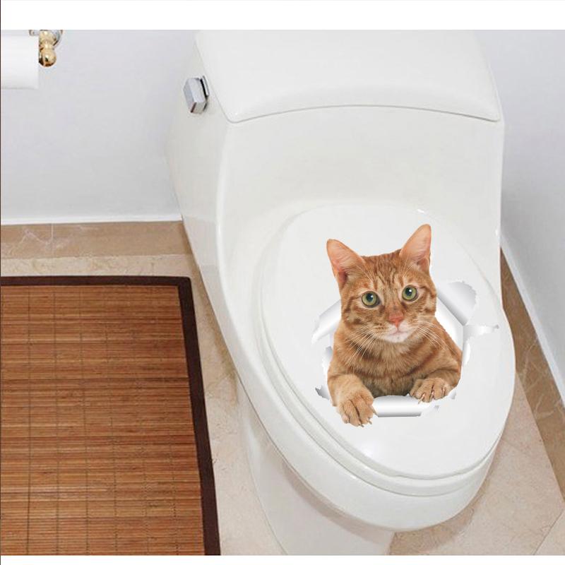 HTB1OlGkxpuWBuNjSszbq6AS7FXa2 - Funny 3d Kitten Broken Hole Sticker For Toilet-Free Shipping