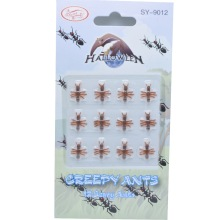 12PCS Christmas Gift Ant Prank Funny Trick Joke Special Lifelike Model Fake Ant Toy Event Party Practical Jokes Gag Tricky Toys