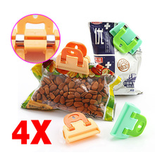 4PCS Portable ABS Practical Food Sealing Very Strong Clamp Clip Powder Food Package Bag Clip