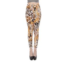 girl fitness slim legging spring autumn fashion sexy leopard leggings animal printed ankle length pants