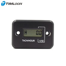 Waterproof LCD Display Digital Tachometer Tacho Gauge Hour Meter For Motorcycle / Boat Engines / 4  stroke gasoline engine