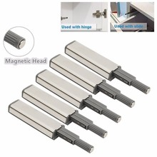 5pcs Door Catch Latch Open System Kitchen Cabinet Cupboard Drawer Buffer Soft Quiet Closer Damper Buffers Door Stopper Magnetic(China)
