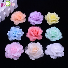 50pcs / lot 6cm silk rose corsage wedding decoration DIY artificial rose garland decorated artificial flowers real touch roses