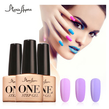 7ml One Step Gel Polish Soak Off Nail Art UV LED Gel Lacquer  Gel 3 In 1 Step Nail Gel Varnish