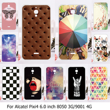 Soft Phone Cover Case For Alcatel OneTouch Pixi4 4G 9001D 9001A 9001X Case Funda For Alcatel 3G OT-8050D 8050 OT8050 8050D Cover