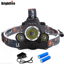 Brightfire Headlamp Waterproof XML T6 and 2 XPE LED Headlamp 4 Modes 5000LM Head Lamp Head Light