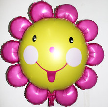 10 pcs/lot sunflower Balloons Helium Foil Balloons Birthday Party Decorations enfeites de natal Weeding party