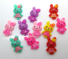 Buy 50Pcs Mixed Rabbit Resin Decoration Crafts Beads Flatback Cabochon Scrapbook Hair Clips DIY Embellishments Accessories Buttons for $2.28 in AliExpress store