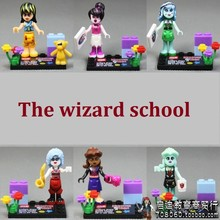 6pcs Wizard School Draculaura Frankie Stein LET IT GO Girls Friends Building Action Figure Minifig Brick Blocks Kids Toy
