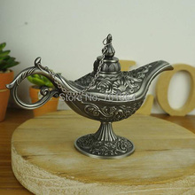 Big Size Antique Arts Craft Aladdin Lamp Vintage Home Decor Arabian Nights Story Table Display(China)