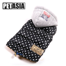 2017 NEW Warm Polka Dot Dog Clothes Winter Waterproof Pet Dog Coat Jacket Fashion Vest for Chihuahua Small Large Dogs XL PETASIA(China)