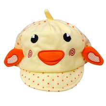 hot baby photography props Cute Baby Boy Girl Ducklings Pattern Dot Peak Cap Hat  lowest  price