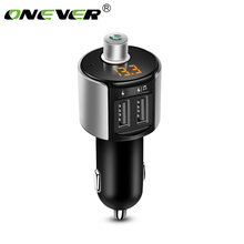 Onever Wireless Bluetooth FM Transmitter Modulator Car Radio Adapter Car MP3 Player 3.4A Dual USB Car Charger Handsfree Car Kit(China)