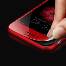 For iphone 7 plus Screen Protector 3D glass Full Cover Film Red Tempered Glass For iphone 6 7 6s red Screen Protector glass