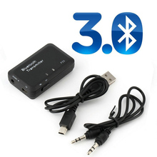 New 3.5mm Bluetooth Transmitter Transmite Mini Bluetooth V3.0 Audio Transmitter Stereo Adapter for TV, DVD, and MP3 etc