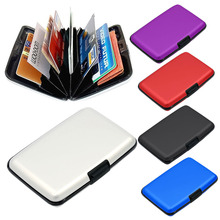 6 Layers Inside Aluminium Alloy Shell Waterproof Credit Card ID Card Coin Pocket Storage Case Box Holder