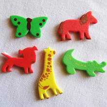 50PCS/LOT.Mixed animal foam stickers,Kids toy.Scrapbooking kit.Early educational DIY.Cheap.kindergarten craft.OEM bulk wholesale(China)