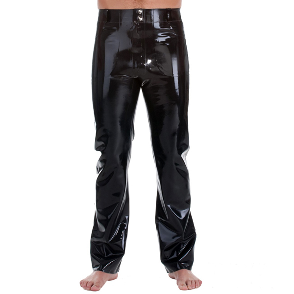 Latex Rubber Rubber Jeans With Front & Back Pockets