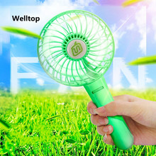 Welltop Portable Mini Fan Personal Air Cooling USB Fan Travel Handheld Fan With 18650 Rechargable Battery Gear adjustment wind