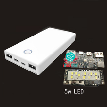 QC3.0 Mobile Power Bank DIY Kits 5S Battery Two-way Quick Charge Shell qc2.0 Charger Circuit Board Dual Output/Input 5V 9V 12V(China)