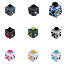 3.3cm Mini Fidget Cube Vinyl Desk Finger Toy Squeeze Fun Stress Reliever 11 Colour Click Glide Flip Spin Breathe Roll A6