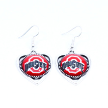Earrings NCAA Ohio State Buckeyes Charms Dangle Earrings Sport Earrings Football Jewelry for Women Birthday Party Gift 5 pairs
