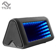 TTLIFE Portable Wireless Bluetooth Speakers 5 Dynamic 3D Lights Effects Sound System 20W Strong Bass Stereo Sound Box with Mic