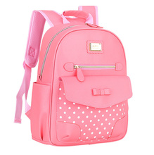 Children Shoulder Bag Kids' Schoolbag Girls Backpack Fashion PU Leather Bag High Quality Breathable Waterproof Children Backpack(China)