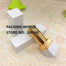 4G aluminumsquare shape gold lip tube for lip sticker/ lip balm lip sticker tube can be used for cosmetic package(China)