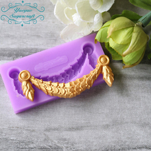 Yueyue Sugarcraft 1 piece Border silicone  mold fondant mold cake decorating tools chocolate gumpaste mold