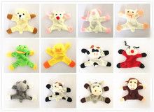 Free Shipping 6Pcs Cute Animal Refrigerator Magnet Stickers Plush Fridge Magnet Sticker Children Birthday Gift