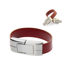 10pcs/lot Promotion creative leather bracelet USB 2.0 Flash Drives High speed thumb pendrive memory stick U disk