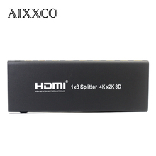 AIXXCO 3D 2k 4K HDMI Splitter 1x8 1080P Amplifier HDMI Switch 1 in 8 Out HDMI Converter adapter For HDTV(China)