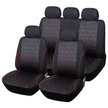 Soccer Ball Style Jacquard Full Car Seat Covers Set Universal Fit Most Interior Accessories