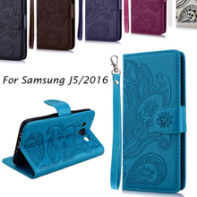Luxury Business Women/Men Card Slot Wallet Holster Leather Cellular Case Cover For Samsung Galaxy J5 J7 2016 J510 J710 Phone Bag