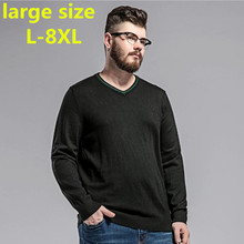 Buy new large size 8XL Sweater Man 100% Pure Cashmere Knitted Winter Warm Pullovers V-neck Long Sleeve Standard Sweaters Male Jumper for $47.56 in AliExpress store